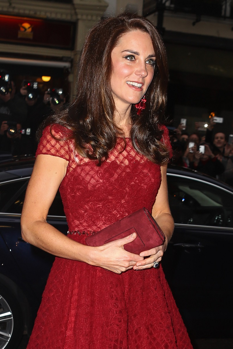 Kate Middleton Wears A Marchesa Dress That Runs Out In