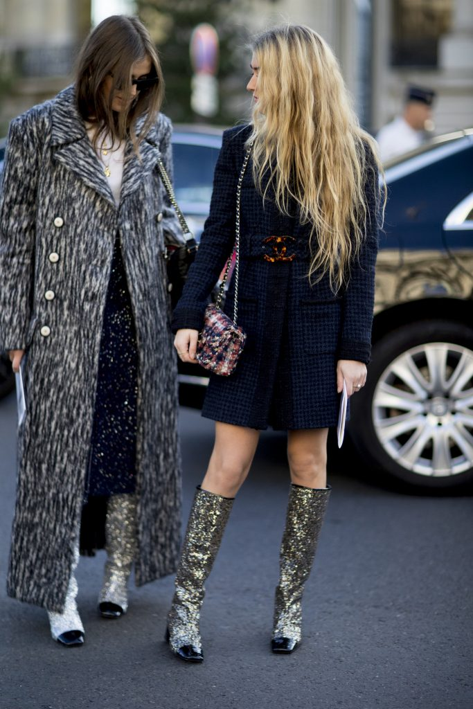 Glitter Boots of Chanel