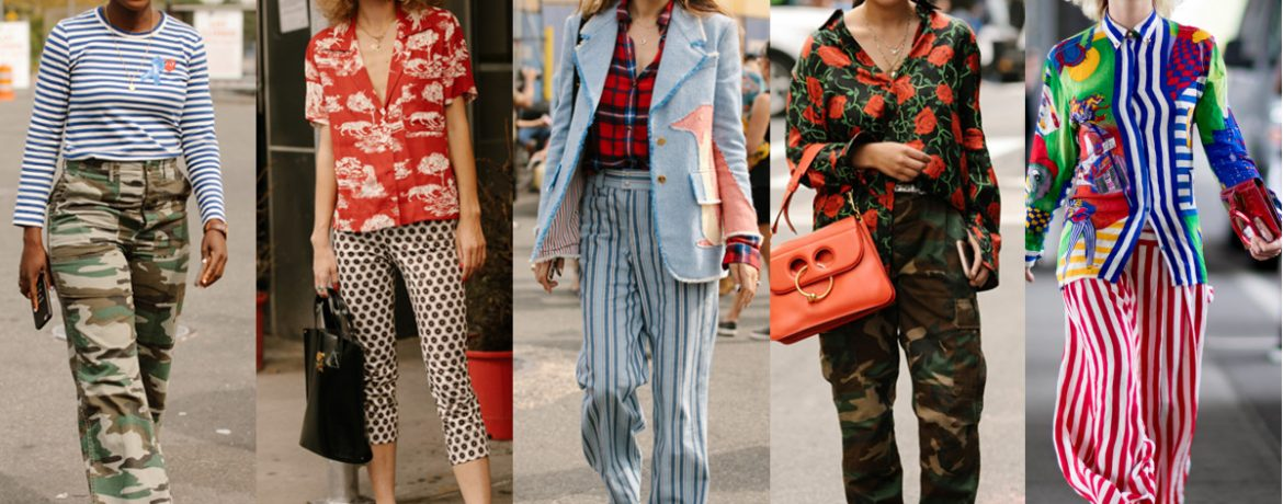 Fashion prints on clothes in 2018
