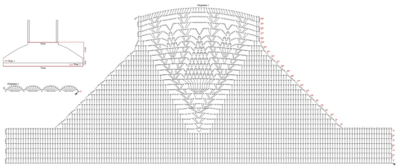 Crochet Top: Scheme And Description