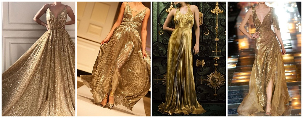 Golden Color In Clothes: Fashionable Combinations