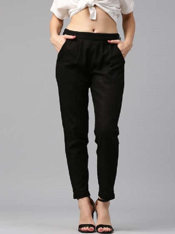 Plain black pants