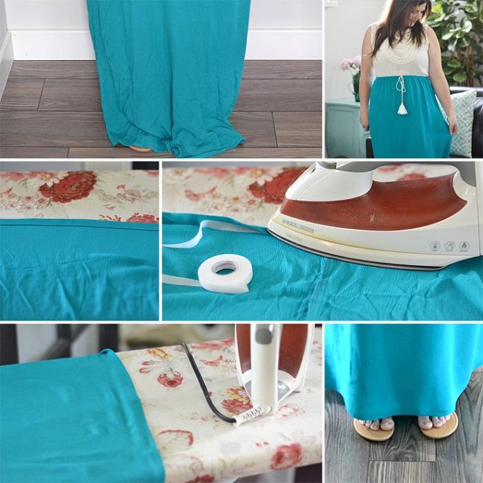 how to hem a dress