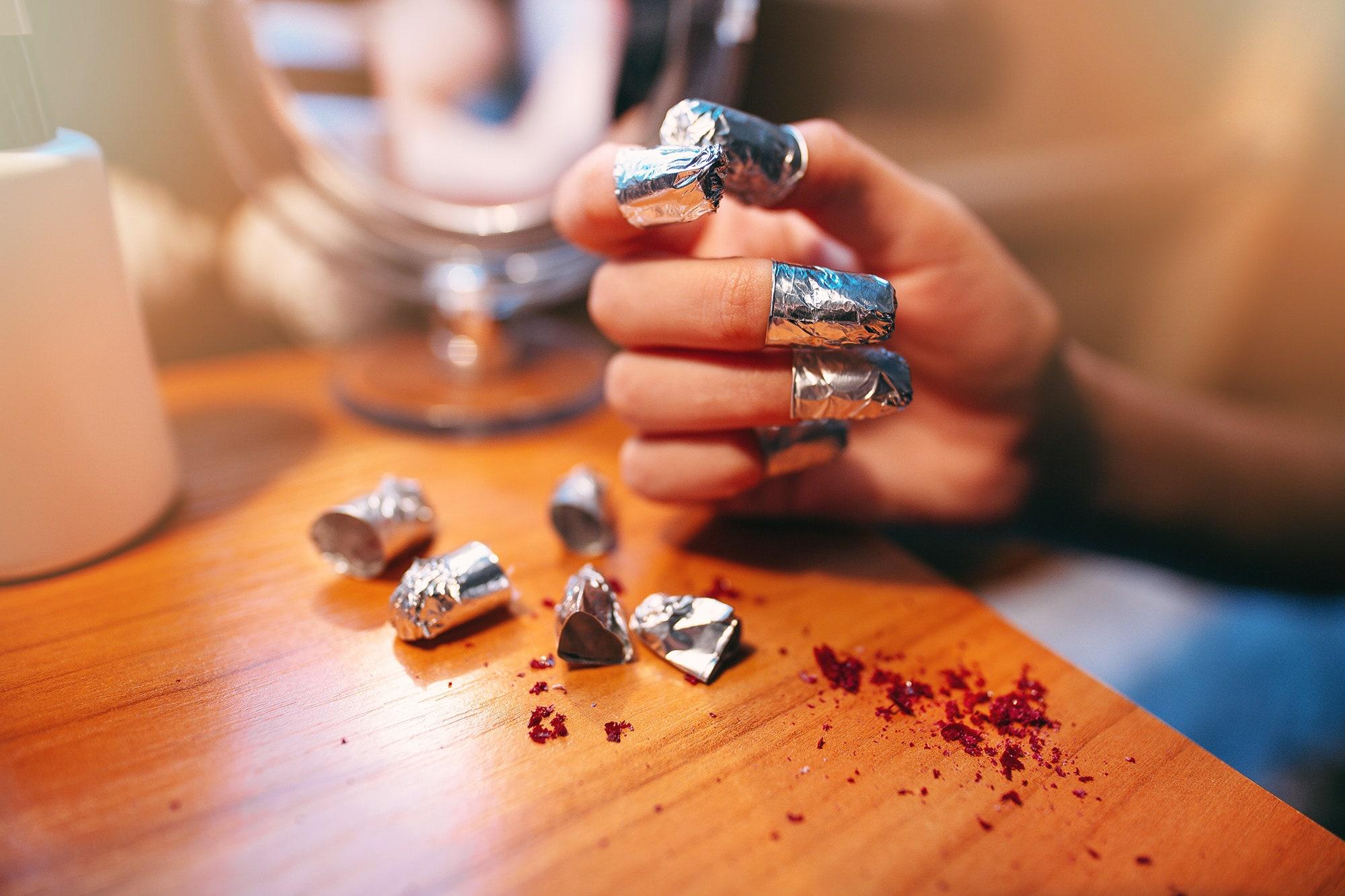 how to remove semi permanent nail polish