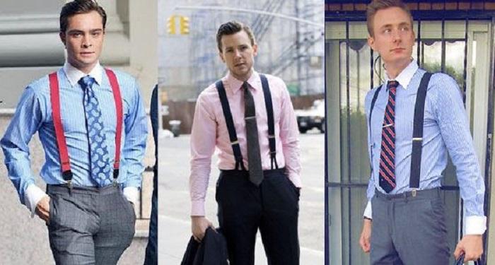 how to wear suspenders