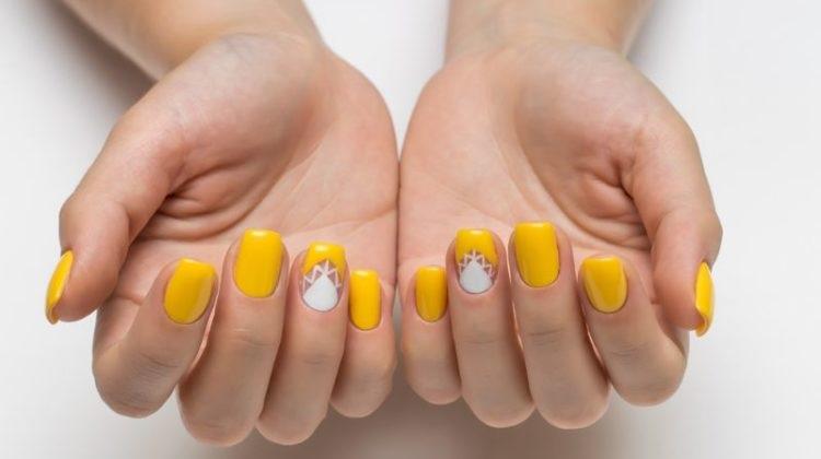 Yellow nail polish